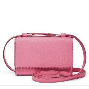 Fossil Pink Mila Mini Crossbody Purse Wallet